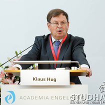 Dr. Klaus Hug, President of the Foundation Academia Engelberg. Opening of the conference - Eroeffnung der Konferenz 2012: Future Cities/Zukunftsstaedte im Kloster Engelberg.