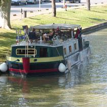 Pause auf dem Canal du Midi