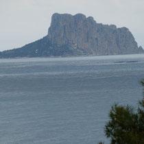 Blick vom Berg nach Calpe = Penon