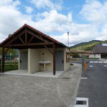 Ein/Ausfahrt mit VE+Toilette