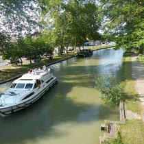 Canal du Midi direkt hinter dem SP