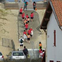 Surfschule auf dem Weg