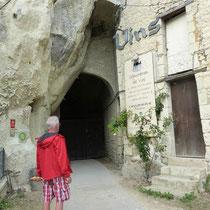 """Das """"Loch"""" ist ein alter Eingang zu einem Kellergewölbe"""