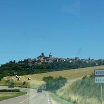 Anfahrt auf Vézelay