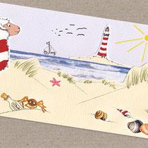 Postkarte im Deichformat | Basteln & Malen