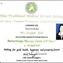 Zertifikat Thai-Aroma-Ölmassage