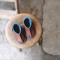 baby moccasin 13cm / chico x blue