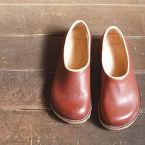 plane shoes / choco x beige