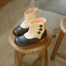 antique boots 18cm / black x white