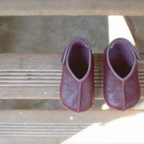 baby moccasin 12cm / plum x purple
