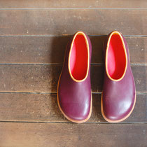plane shoes / plum x red (almond)