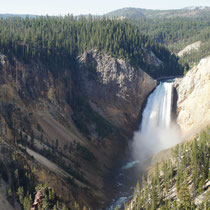 wasserfall des yellowstone rivers