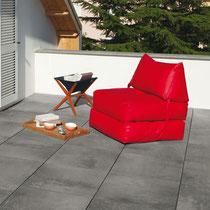 Feinsteinzeug Beton Antrazith 61x61x2 cm