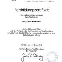 "Zertifikat ""Estradiolbenzoat in Isopropanol ""  | Cronen Apotheke Coesfeld"