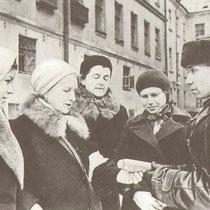 1941 Ленинград. Обучение тушению зажигательных бомб