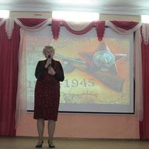 Поздравление делегатов слёта Рябиной Ниной Георгиевной - первым заместителем министра социального развития Саратовской области.
