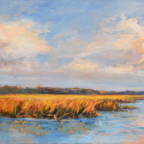 October's Marsh 24x12 [SOLD]