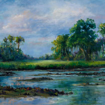 Beyond The Oyster Flats [SOLD] --- Medium: Oil --- Size: 24 X 30