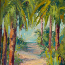 Pathway to Beach- -- Medium: Oil --- 12 X 16