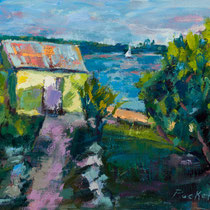 Abaco Boathouse- -- Medium: Oil --- 8 X 10