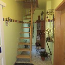 Treppenaufgang zur Wohnungserweiterung