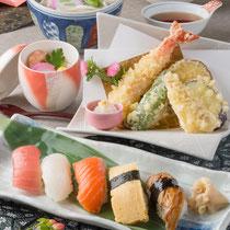 寿司天ぷらセット 1480円(+税)