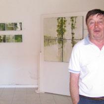 Vittorio alla mostra di pittura