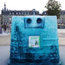 Conteneur à verre. Bordeaux métropole. 2014