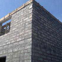 Schaumbeton Blöcke Häuserbau