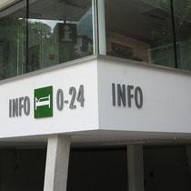 Fassadenbeschriftung Tourismusverband Finkenberg