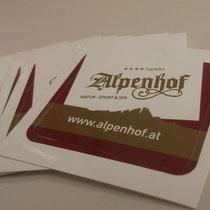 Aufkleber für´s Hotel Alpenhof in Hintertux