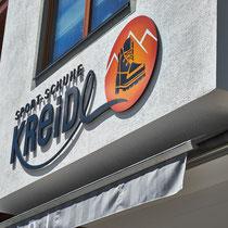 Fassadenbeschriftung und Relaunch Logo Sport Schuhe Kreidl, Tux
