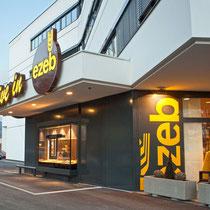 Beschriftung und Leuchtschriften EZEB Bäckerei, Schwaz