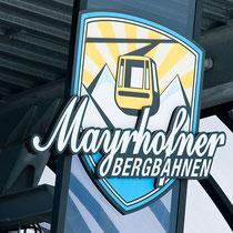 Bergbahn-Beschriftung am Penken in Mayrhofen