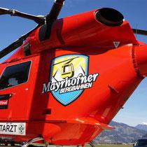 Machen auch wir nicht jeden Tag: Hubschrauber-Beschriftung in Mayrhofen