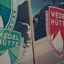 Holzschilder bedruckt Wedelhütte Zillertal,Tirol