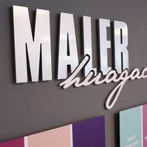 Edel gefräste Schriften für den DIY-Shop Erler in Mayrhofen