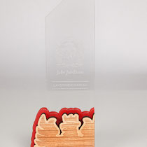 Wunderschöne Sportrophäen aus Holz- und Plexiglas