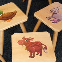Einfach HERRzig: Bedruckte Kinderstühle aus Holz für Drechslerei Walter Buchberger, Mayrhofen