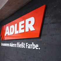 Shop-Dekoration und Innenbeschilderung Erler do it yourself!