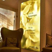Stoffdruck hinterleuchtet - Hotel Victoria
