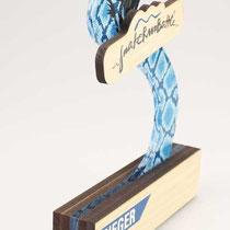 Begehrenswerte individualisierte Trophy für den SnakeRunBattle 2016, Zillertal Arena