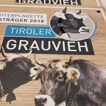 """Plaketten """"Tiroler Grauviehzuchtverband"""""""