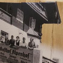 Retro-Holzdruck für Hotel Alpenhof, Zillertal