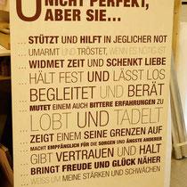 Hausregeln auf Holz gedruckt - wunderschöner Holzdruck als Wohndeko