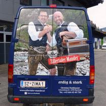 Beklebung Tourbus, Zillertaler Mander