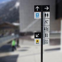 Schilder und Beschriftung Mayrhofner Bergbahnen, Design: www.motasdesign.com