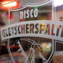 Glasdekor Disko Gletscherspalte, Tux