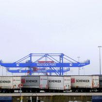 Der Rostocker Seehafen