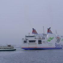 Reger Schiffsverkehr auf der Unterwarnow